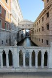Le pont des soupirs à Venise Italie photo stock