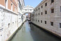 Le pont des soupirs, détail architectural Photo libre de droits