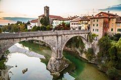 Le pont du diable de Cividale del Friuli photos stock