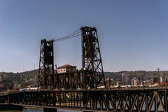 Le pont en acier de Portland Image stock