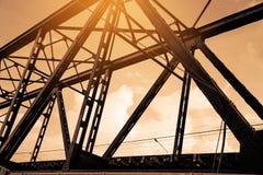 Le pont en acier, se ferment vers le haut de la vue Photographie stock libre de droits