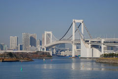 Le pont en arc-en-ciel à Tokyo, Japon Image stock
