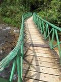 Le pont en bois Photographie stock libre de droits