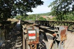 Le pont en fer Photographie stock