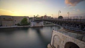 Le pont en fer de Tarente Photographie stock libre de droits