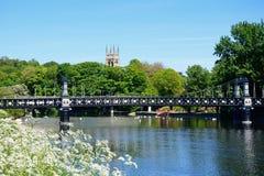 Le pont en ferry, Burton sur Trent photo libre de droits