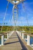 Le pont en harpe, Hadera Images stock
