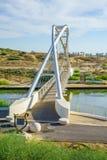 Le pont en harpe, Hadera Photo stock