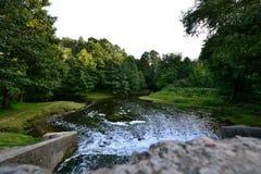 Le pont en parc Images libres de droits