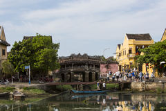 Le pont japonais, Hoi An Image libre de droits