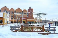 Le pont-levis à Kiev Images libres de droits