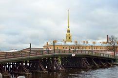 Le pont menant à la forteresse Images stock