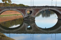 Le Pont Neuf (New Bridge) in Toulouse, France Stock Photos