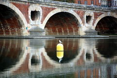 Le Pont Neuf w Tuluza, Francja (Nowy most) obraz stock