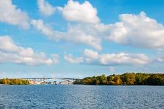 Le pont occidental à Stockholm, Suède Image libre de droits