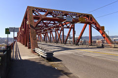 Le pont Portland Orégon de Broadway Photographie stock