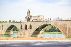 Le Pont St. Benezet and Palace of the Popes Stock Image