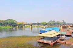 Le pont sur la rivière Kwai, Kanchanaburi, Thaïlande Image stock