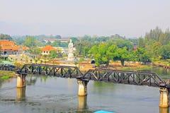 Le pont sur la rivière Kwai, Kanchanaburi, Thaïlande Photographie stock