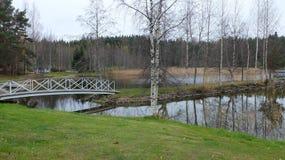 Le pont vers l'île Images libres de droits