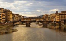 Le Ponte Vecchio à Florence, Italie Images libres de droits