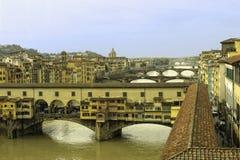 Le Ponte Vecchio au-dessus d'Amo River Photos libres de droits