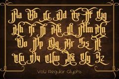 Le Pontifice - police gothique de label de vintage illustration de vecteur