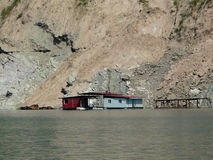 Le ponton sur l'eau Photo libre de droits