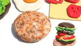 Le porc a coupé assaisonner la carotte pour l'art de créativité de bifteck du Sc Photo libre de droits