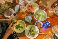 Le porc de gruau de la Thaïlande Images libres de droits