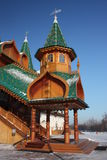 Le porche. Le palais dans le patrimoine Kolomenskoe. photographie stock
