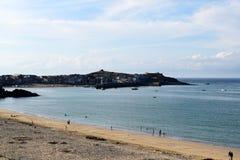 Le port à St Ives, les Cornouailles, R-U images libres de droits