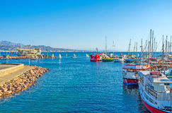 Le port central d'Eilat Photo stock