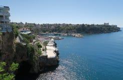 Le port d'Antalya dans l'Oldtown Kaleici Image libre de droits