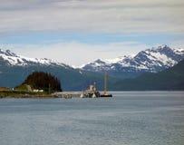 Le port d'arrivée ou de départ pour le pétrole au valdez Images libres de droits