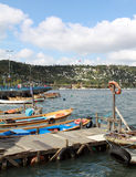 Le port d'Eyup, Istanbul. Photographie stock libre de droits