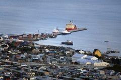 Le port d'Ushuaia - l'Argentine Image libre de droits