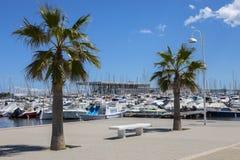 Le port dans Denia, Espagne image libre de droits