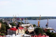 Le port dans Vyborg Photo libre de droits