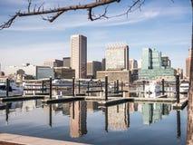 Le port de Baltimore images libres de droits
