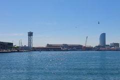 Le port de Barcelone, à la fin du Ramblas Barcelone, Espagne Images stock