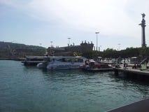 Le port de Barcelone Images stock