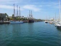 Le port de Barcelone Images libres de droits