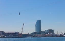 Le port de Barcelone de la fin du Ramblas Barcelone, Espagne Photographie stock libre de droits