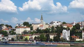 Le port de Belgrade Photo stock