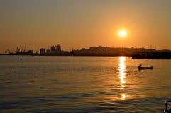 Le port de Durres Image libre de droits