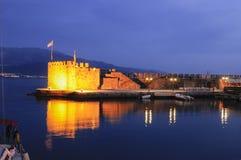 Le port de fort de Nafpaktos Grèce Photographie stock libre de droits