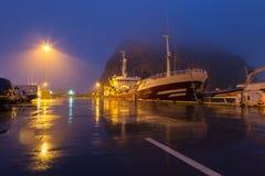 Le port de Heimaey dans les îles de Westman, Islande Image libre de droits