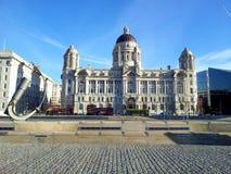 Le port de la construction de Liverpool photographie stock libre de droits