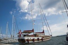 Le port de la ville de Leucade Photographie stock libre de droits